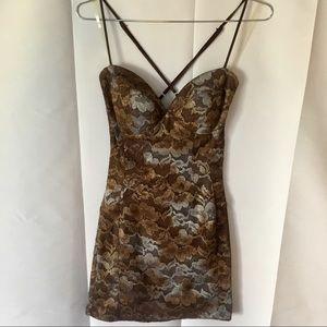 All lace mini dress